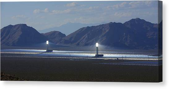 Solar Farms Canvas Print - Solar Farm by Clyn Robinson