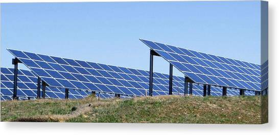 Solar Farms Canvas Print - solar farm Re R 5 by Sierra Dall