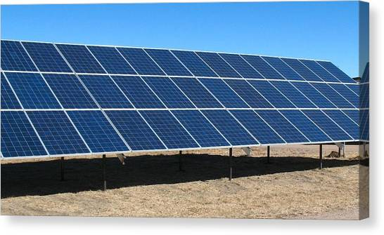 Solar Farms Canvas Print - solar panels RE R 6 by Sierra Dall