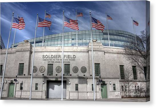 Soldier Field Canvas Print - Soldier Field by David Bearden