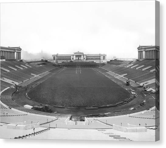 Soldier Field Canvas Print - Soldier Field In Chicago by Underwood Archives