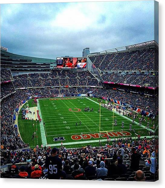 Football Teams Canvas Print - Soldier Field In Prime Fall Form by Shane Stewart