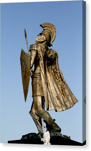 Troy University Troy Canvas Print - Soldier Of Fountain by Greg Sharpe