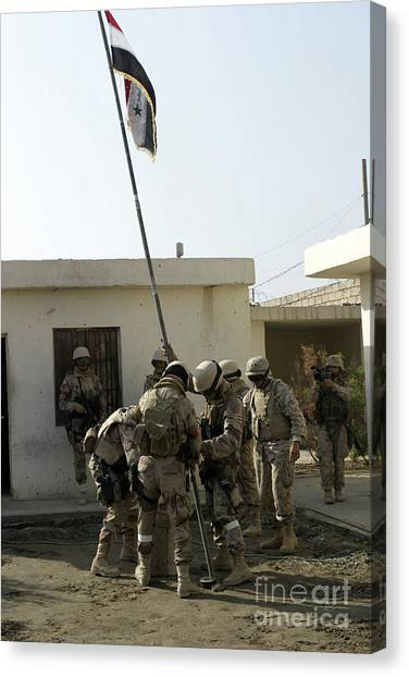 Special Forces Canvas Print - Soldiers From The Iraqi Special Forces by Stocktrek Images