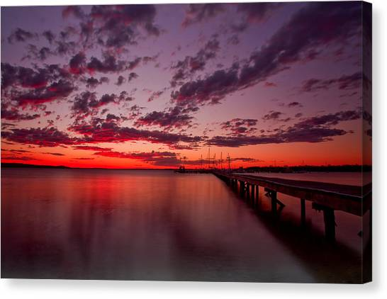 Soldiers Point Sunset Canvas Print