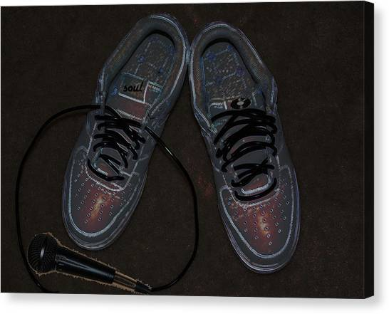 Microphones Canvas Print - Sole Mates by Shannon Staskin