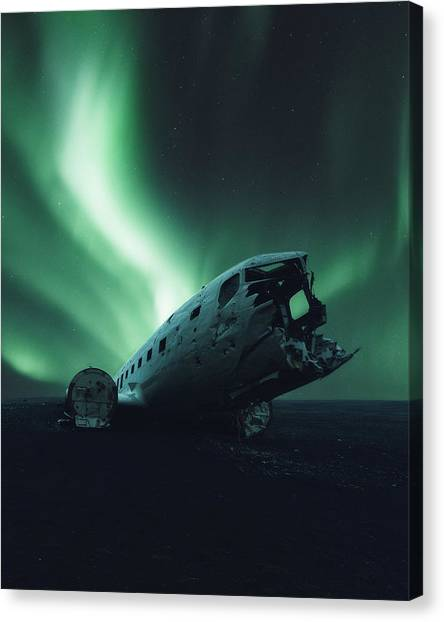 Airplanes Canvas Print - Solheimsandur Crash Site by Tor-Ivar Naess