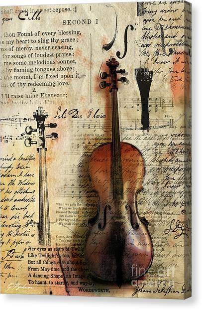 Cellos Canvas Print - Soli Deo Gloria by Gary Bodnar