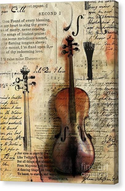 Worship Canvas Print - Soli Deo Gloria by Gary Bodnar