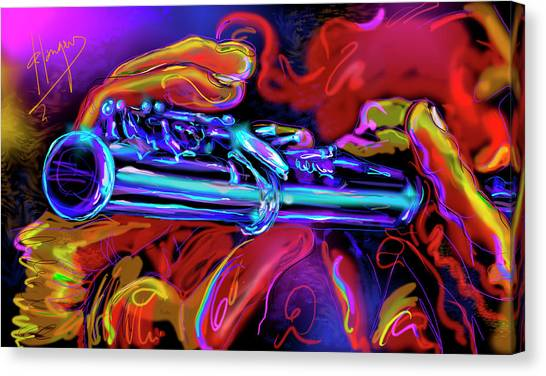 Solid Silver Canvas Print