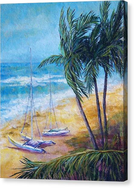 Soliman Bay Canvas Print by Candy Mayer