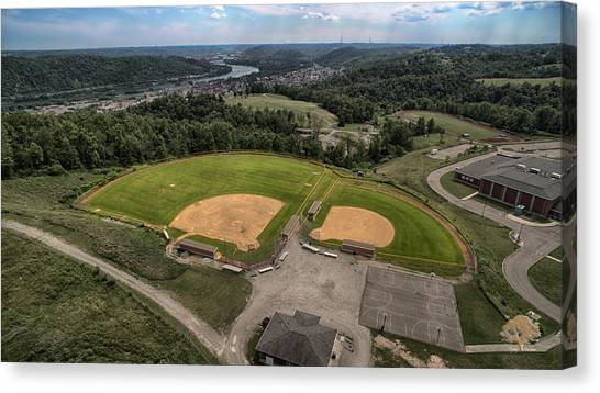 Ohio Valley Canvas Print - Solitary Baseball by Flying Dreams