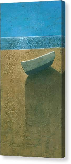 Solitary Boat Canvas Print