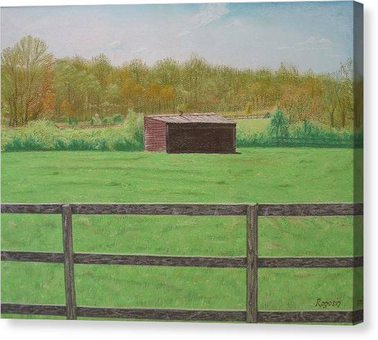 Solitary Shed Canvas Print