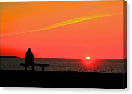 Solitude At Sunrise Canvas Print