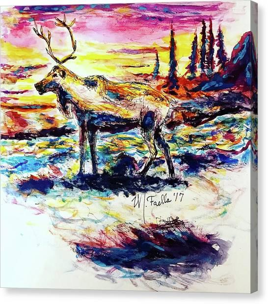 Solitude Caribou Canvas Print