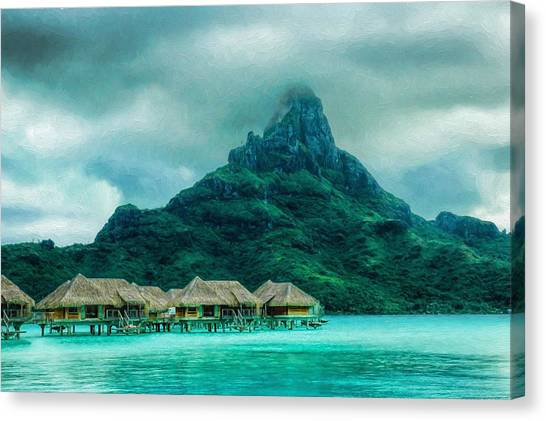 Solitude In Bora Bora Canvas Print