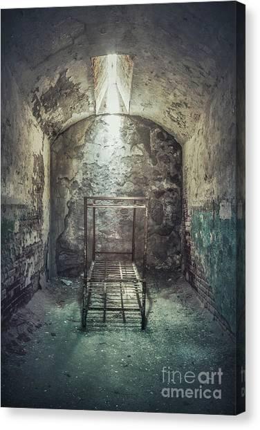 Urban Decay Canvas Print - Solitude Of Confinement by Evelina Kremsdorf