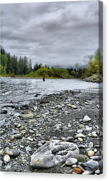 Solitude On The River Canvas Print