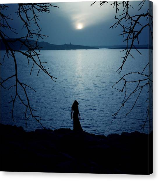 Gothic Art Canvas Print - Solitude by Cambion Art