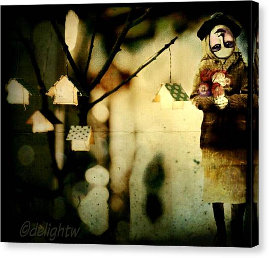 Canvas Print featuring the digital art Some Days Are Like That by Delight Worthyn