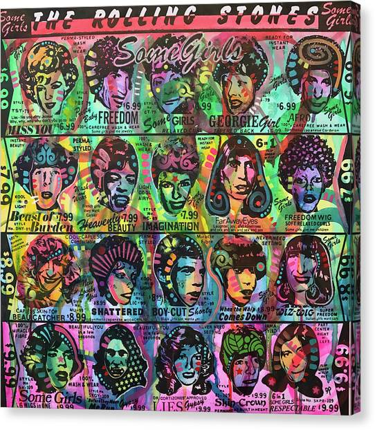 Rolling Stones Canvas Print - Some Girls Redux by Dean Russo Art