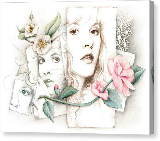 Stevie Nicks Canvas Print - Some Lace And Paper Flowers by Johanna Pieterman