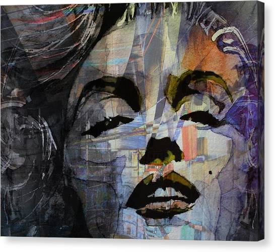 Hollywood Canvas Print - Some Like It Hot Retro by Paul Lovering