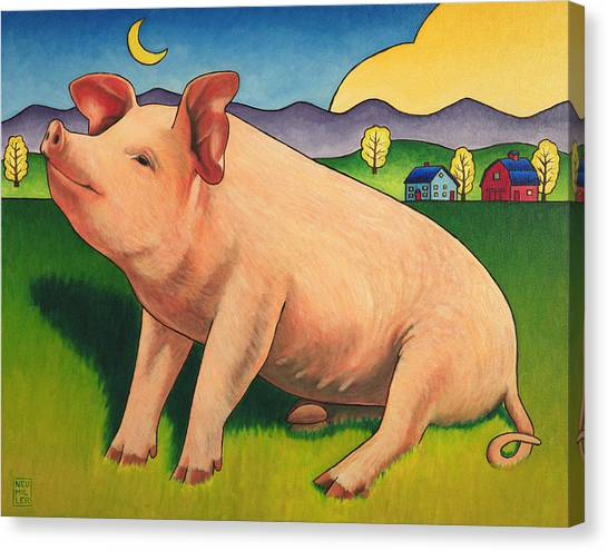 Pig Farms Canvas Print - Some Pig by Stacey Neumiller