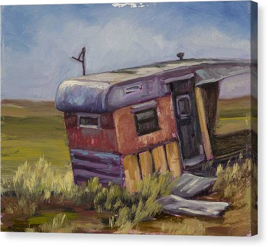 Dilapidation Canvas Print - Some Where In The Middle Of No Where by Julie Rumsey