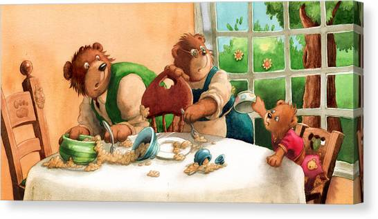 Someones Eaten My Porridge Canvas Print