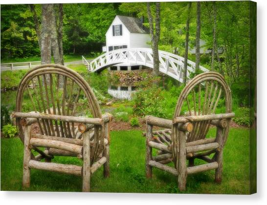 Somesville Maine - Arched Bridge Canvas Print
