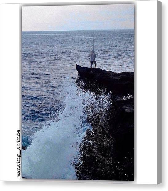 Trucks Canvas Print - Something Fishing On The Edge by Indian Truck Driver