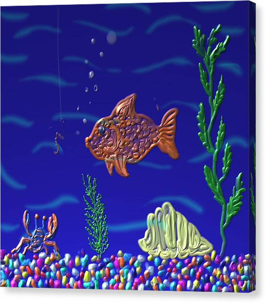 Something Fishy Canvas Print