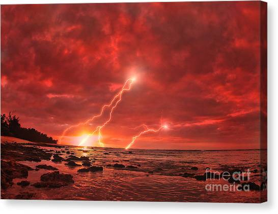 Lightning Canvas Print - Something Wicked by Paul Topp