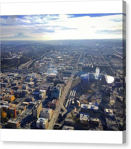 Seattle Seahawks Canvas Print - Something You Don't See Everyday: by Matt Sweetwood