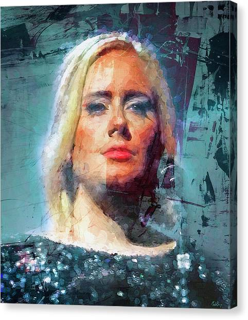 Adele Canvas Print - Sometimes It Hurts Instead by Mal Bray