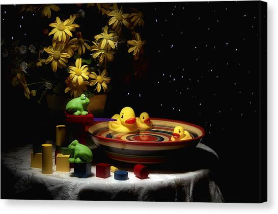 Ducks Canvas Print - Sometimes Late At Night by Tom Mc Nemar