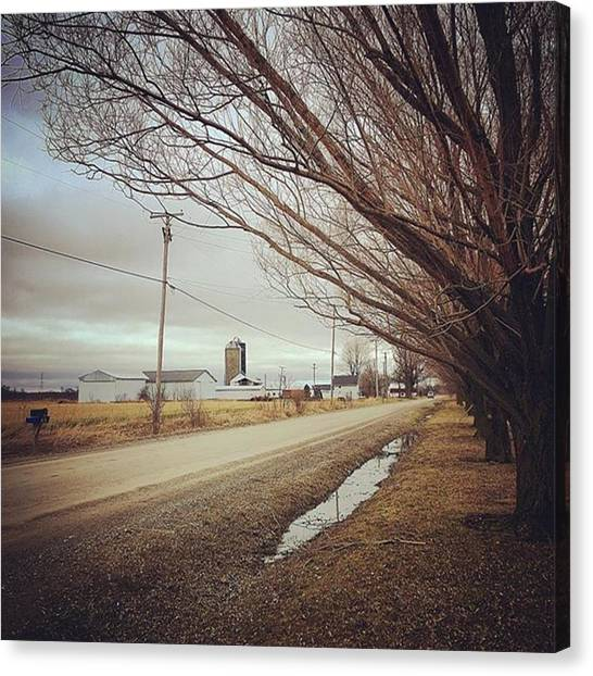 Farmhouse Canvas Print - Somewhere Down A Country Road by Marc Bowers