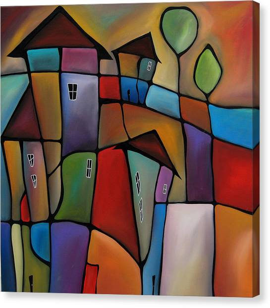 Somewhere Else - Abstract Pop Art By Fidostudio Canvas Print