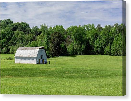 Barn In Green Pasture Canvas Print