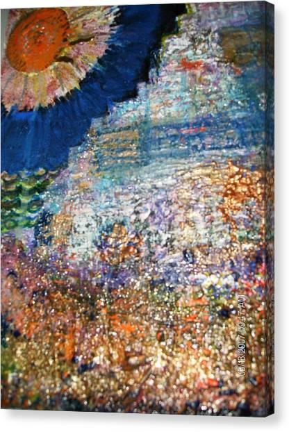 Somewhere On Jupiter Canvas Print by Anne-Elizabeth Whiteway