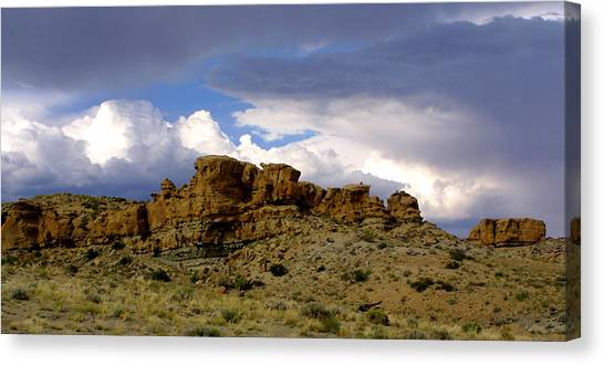 Somewhere Out West Canvas Print by Ralph  Perdomo