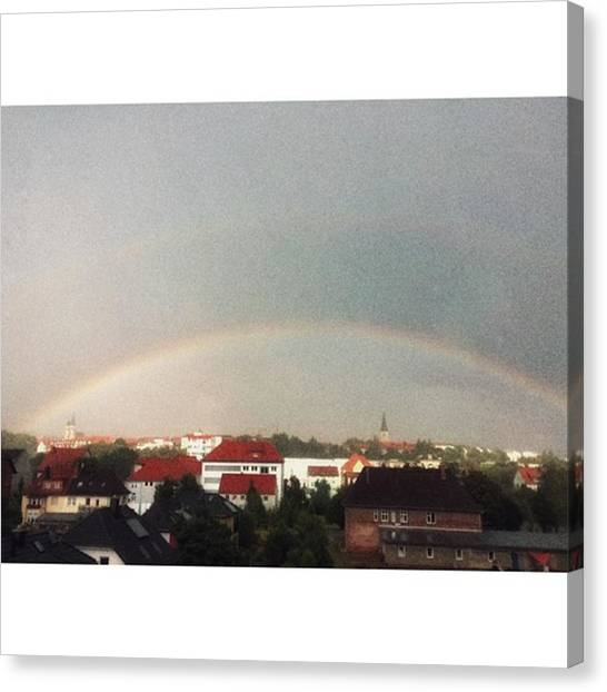 Rainbows Canvas Print - Somewhere Over The Rainbow by Mandy Tabatt
