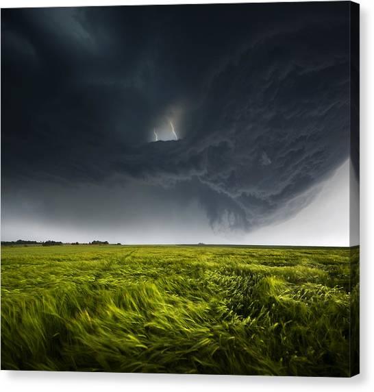 Wet Canvas Print - Sommergewitter_02 by Franz Schumacher