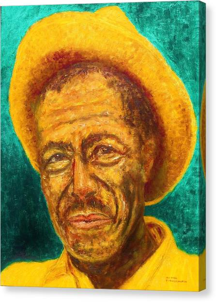 Slide Guitars Canvas Print - Son House by Michael Titherington