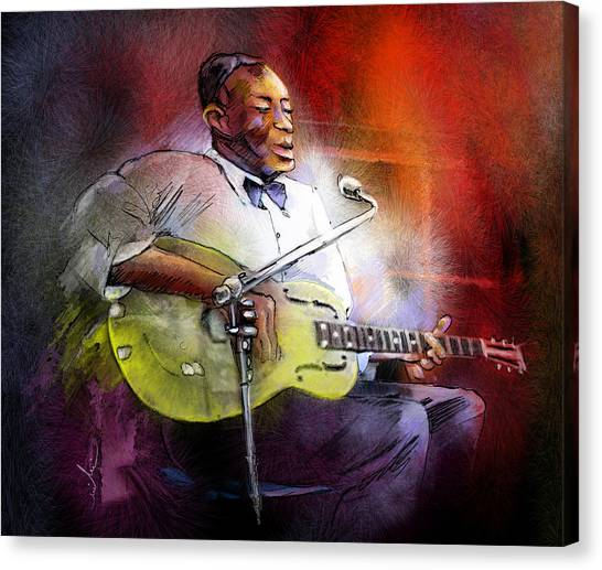 Slide Guitars Canvas Print - Son House by Miki De Goodaboom