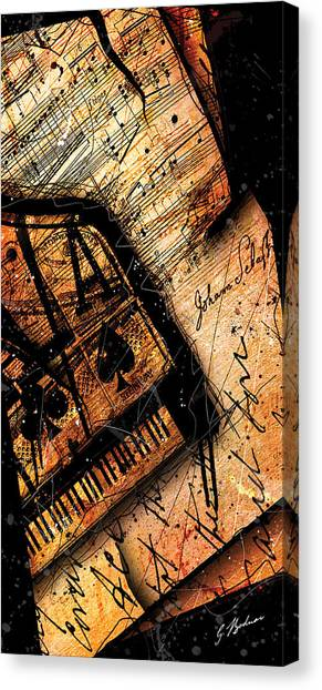 Mozart Canvas Print - Sonata In Ace Minor Panel I by Gary Bodnar