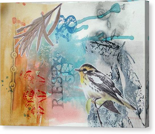 Canvas Print featuring the mixed media Song Of Life  by Rose Legge