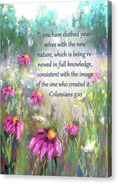 Praise The Lord Canvas Print - Song Of The Flowers With Bible Verse by Susan Jenkins